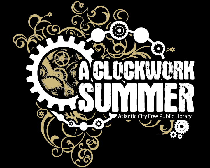 Clockwork Summer logo horizontal with dark background